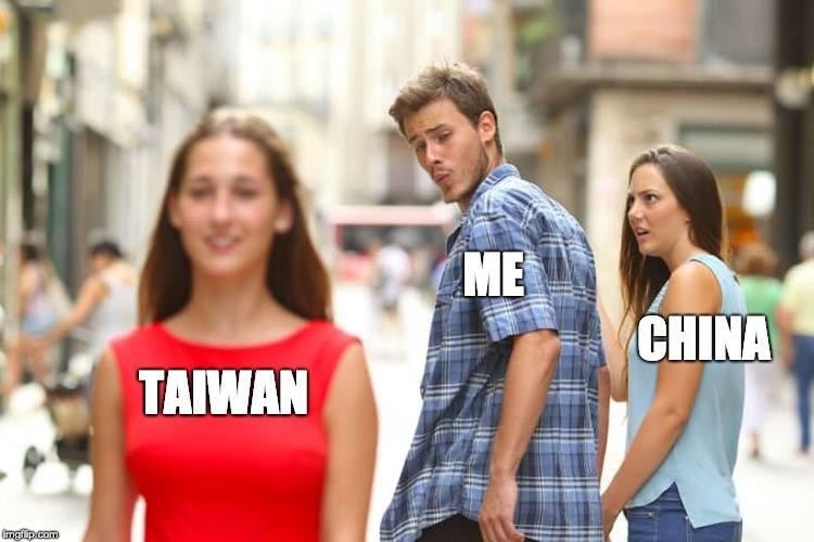 Taiwan, me, China