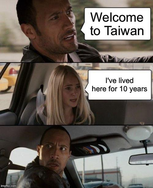 Welcome to Taiwan taxi driver