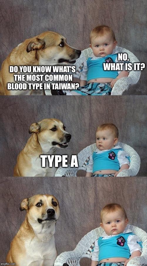 Taiwan Dad Joke