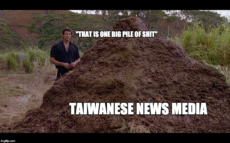 """Taiwanese news media """"this is one big pile of shit"""""""