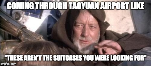 These aren't the suitcases you were looking for