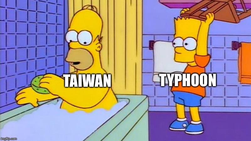 Taiwan Vs. Typhoon