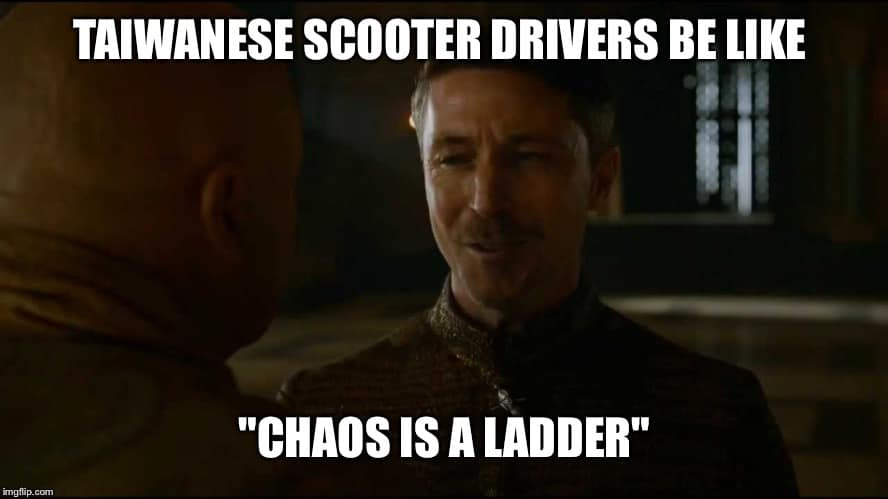 Chaos is a ladder on Taiwanese roads