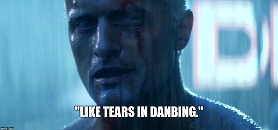 Like tears in danbing.